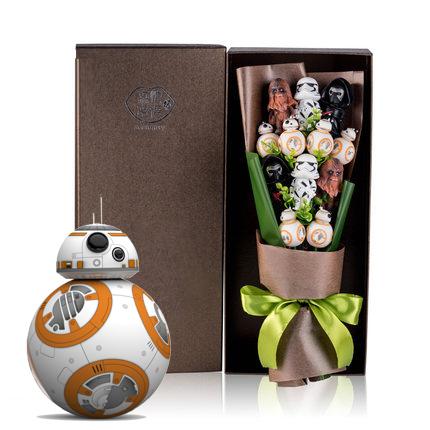 ช่อดอกไม้โมเดลการ์ตูน สตาวอร์ Star Wars(12 ตัว)