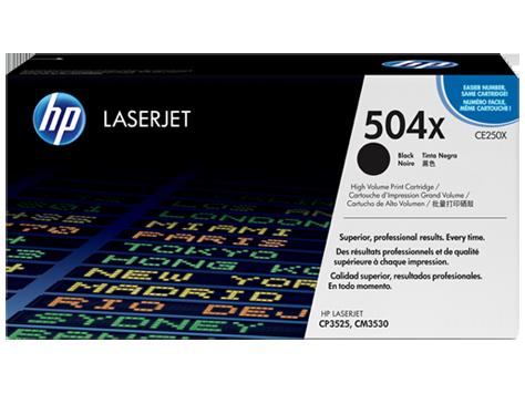 HP 504X ตลับหมึกโทนเนอร์ สีดำ ของแท้ Black Original Toner Cartridge (CE250X)
