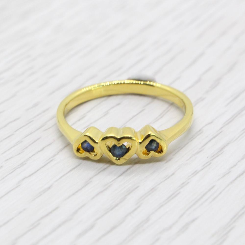 แหวนพลอยไพลินแท้ หุ้มทองคำแท้ ไซส์ 52