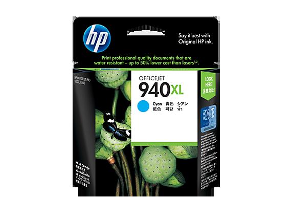 HP 940XL ตลับหมึกอิงค์เจ็ท สีฟ้า High Yield Cyan Original Ink Cartridge (C4907AA)