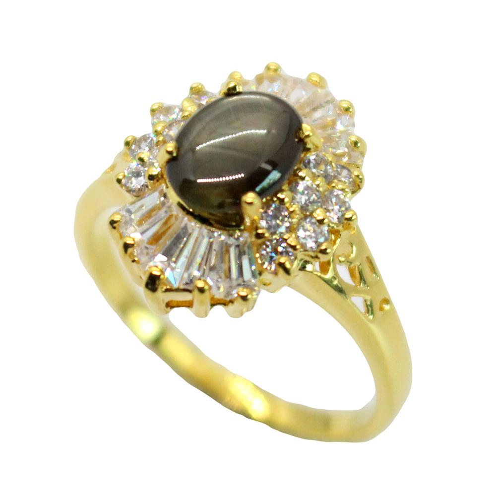 แหวนพลอยไพลินแท้ หุ้มทองคำแท้ ไซส์ 57
