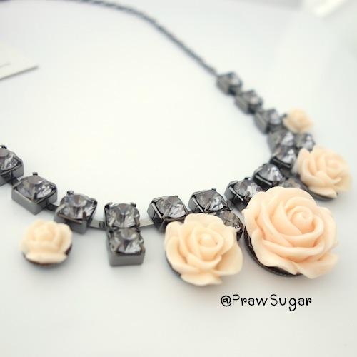Orange rose charming Necklace
