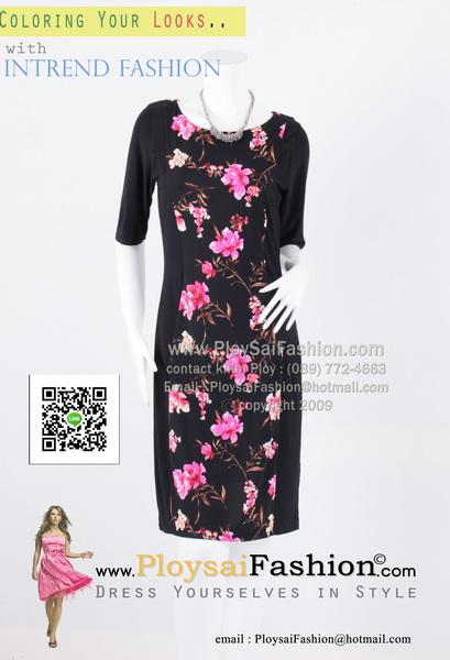 hd1855 - ชุดทำงาน ผ้าเกาหลีสีดำตัดต่อลายหน้า-หลัง ทรงเข้ารูป มีซับในทั้งตัว สวยๆค่ะ