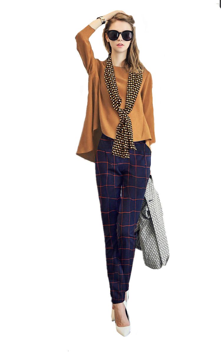 ชุดเซตเสื้อและกางเกงขายาว Suit with Scraft