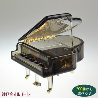 กล่องเพลงเปียโนสีดำใส