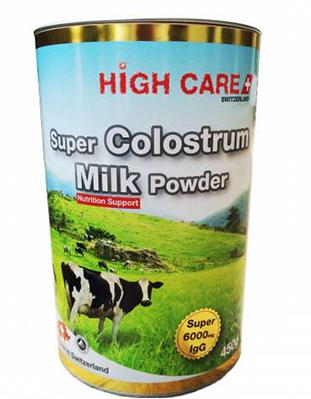 High Care Super Colostrum Milk Powder 6000 mg IgG ขนาด 450 g