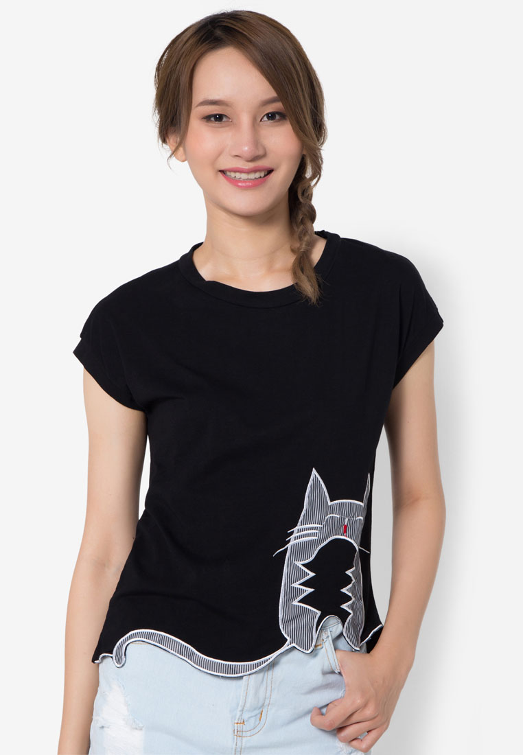 เสื้อยืด Kitty Cutwork