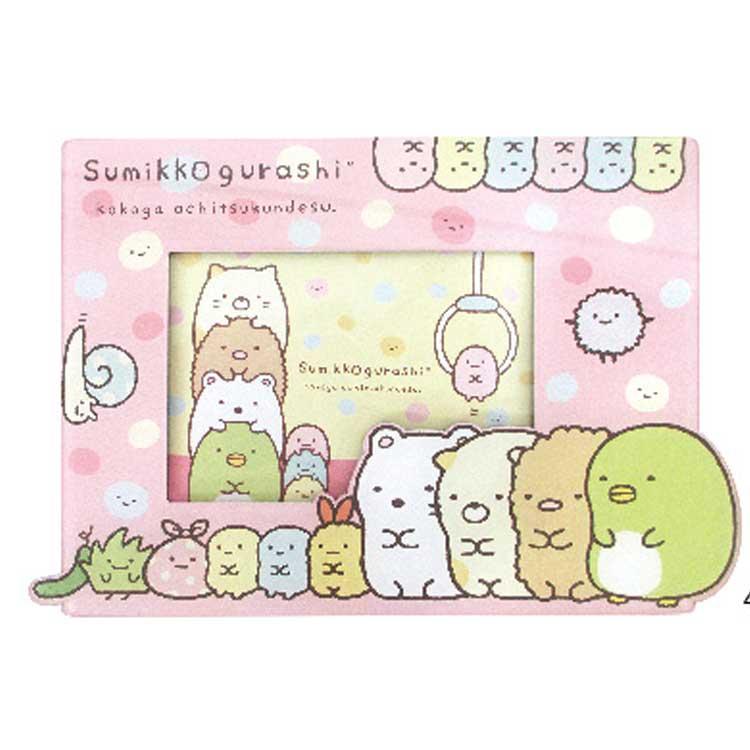 กรอบรูปติดตู้เย็นได้ Sumikko Gurashi สีชมพู
